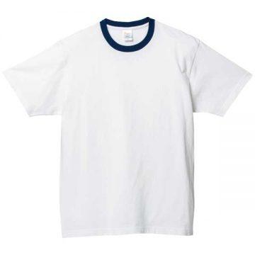 ヘビーウェイトTシャツ731.ホワイト×ネイビー