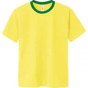 ドライTシャツ635.イエロー×グリーン