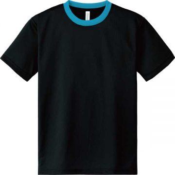 ドライTシャツ650.ブラック×ターコイズ