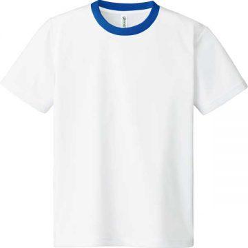 ドライTシャツ732.ホワイト×ロイヤルブルー