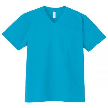 4.4オンスドライVネックTシャツ034.ターコイズ