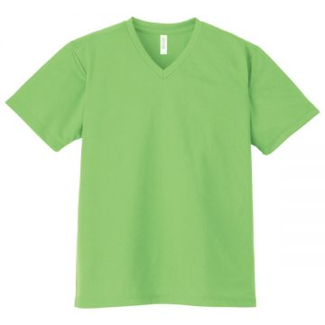 4.4オンスドライVネックTシャツ155.ライム