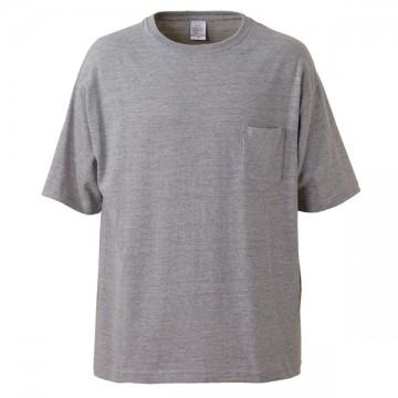 5.6オンスビッグシルエットTシャツ(ポケット付き)006.ミックスグレー
