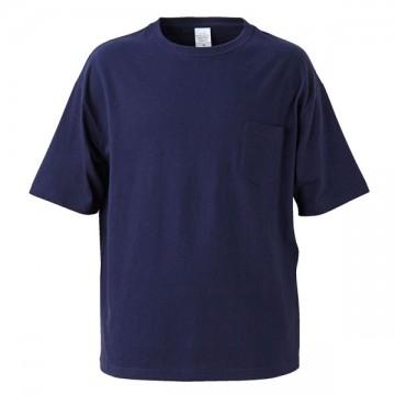 5.6オンスビッグシルエットTシャツ(ポケット付き)086.ネイビー
