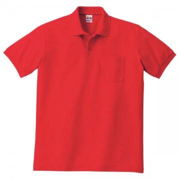 T/Cポロシャツ(ポケット有り)010.レッド