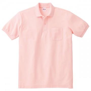T/Cポロシャツ(ポケット有り)011.ピンク