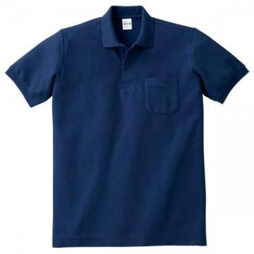 T/Cポロシャツ(ポケット有り)031.ネイビー