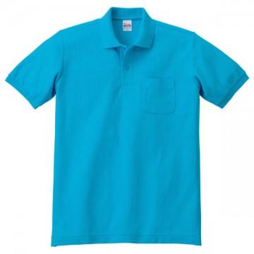 T/Cポロシャツ(ポケット有り)034.ターコイズ
