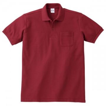 T/Cポロシャツ(ポケット有り)112.バーガンディ
