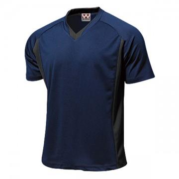 ベーシックサッカーシャツ01.ネイビー