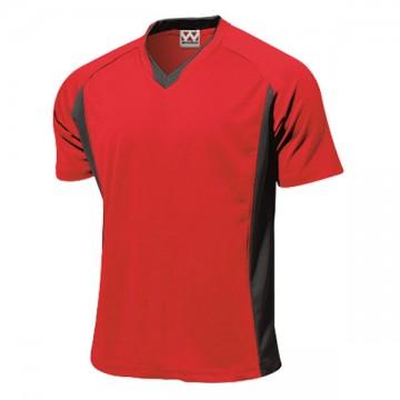 ベーシックサッカーシャツ11.レッド