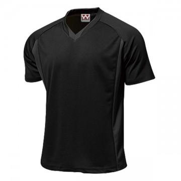 ベーシックサッカーシャツ34.ブラック