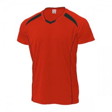 バレーボールシャツ92.レッド×ブラック
