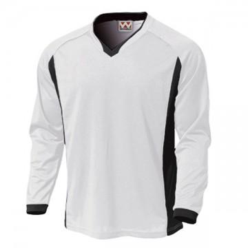 ベーシックロングスリーブサッカーTシャツ00.ホワイト