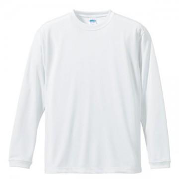 ドライシルキータッチロングスリーブTシャツ001.ホワイト