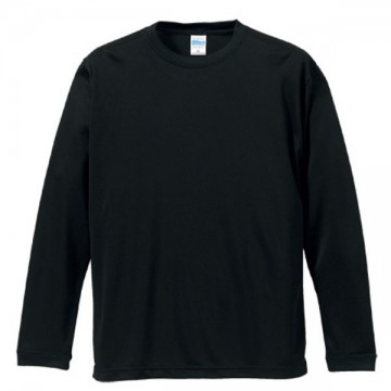 ドライシルキータッチロングスリーブTシャツ002.ブラック