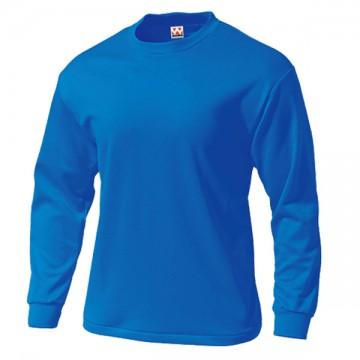 タフドライ長袖Tシャツ03.ブルー
