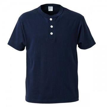 5.6オンスヘンリーネックTシャツ086.ネイビー