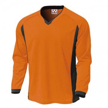 ベーシックロングスリーブサッカーTシャツ15.オレンジ