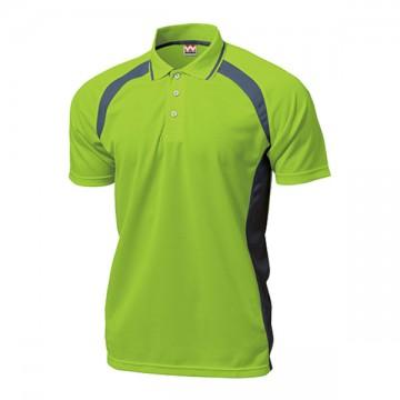 ベーシックテニスシャツ25.ライトグリーン