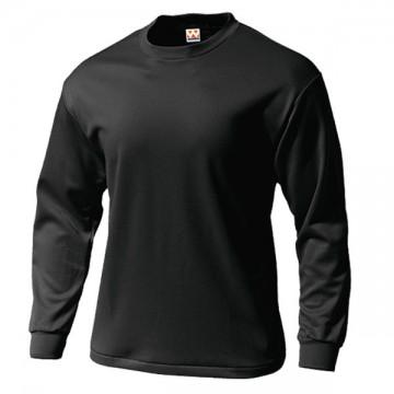 タフドライ長袖Tシャツ34.ブラック