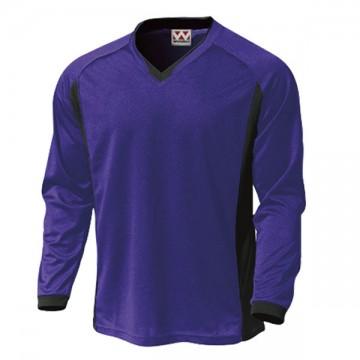 ベーシックロングスリーブサッカーTシャツ40.プラム