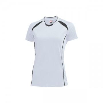 ウィメンズバレーボールシャツ60.ホワイト×ダークグレー