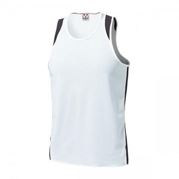 ランニングシャツ64.ホワイト×ブラック