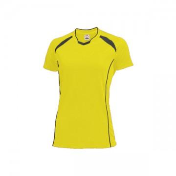 ウィメンズバレーボールシャツ93.イエロー×ダークグレー