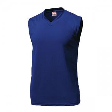 ベーシックバスケットシャツ01.ネイビー