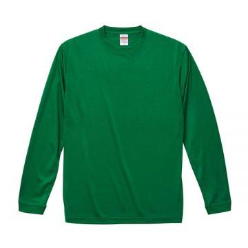 ドライシルキータッチロングスリーブTシャツ029.グリーン