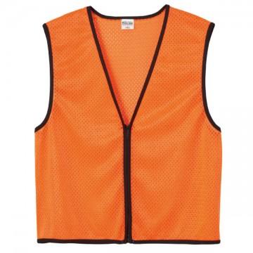 ジップアップビブス048.蛍光オレンジ