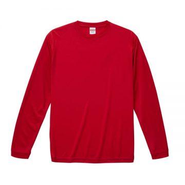ドライシルキータッチロングスリーブTシャツ069.レッド