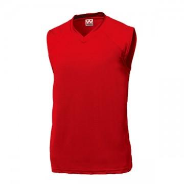 ベーシックバスケットシャツ11.レッド