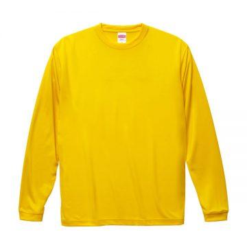 ドライシルキータッチロングスリーブTシャツ190.カナリアイエロー