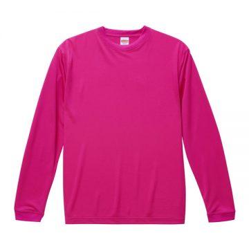 ドライシルキータッチロングスリーブTシャツ511.トロピカルピンク
