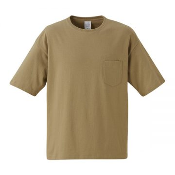 5.6オンスビッグシルエットTシャツ(ポケット付き)537.サンドカーキ