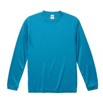 ドライシルキータッチロングスリーブTシャツ538.ターコイズブルー