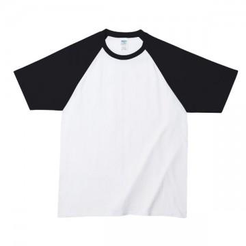 プレミアムコットンラグランTシャツ030B,ホワイト/ブラック