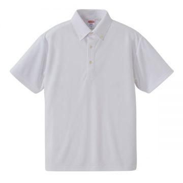 4.1ozドライアスレチックボタンダウンポロシャツ001.ホワイト