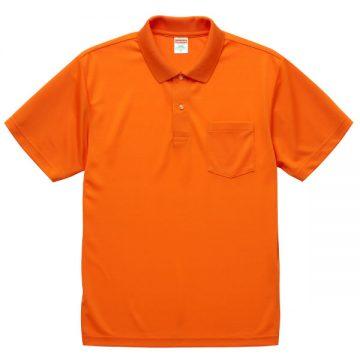 4.1オンスドライアスレチックポロシャツ(ポケット付)064.オレンジ