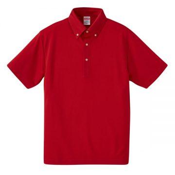 4.1ozドライアスレチックボタンダウンポロシャツ069.レッド