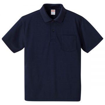 4.1オンスドライアスレチックポロシャツ(ポケット付)086.ネイビー