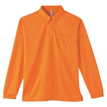 4.4オンスドライボタンダウン長袖ポロシャツ015.オレンジ