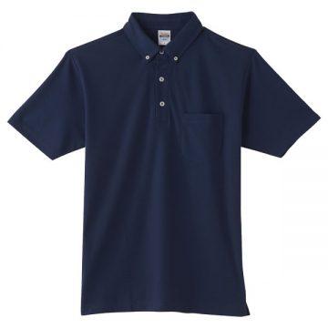 4.9オンスボタンダウンポロシャツ(ポケット付)031.ネイビー