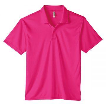 3.5オンスインターロックドライポロシャツ146.ホットピンク