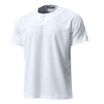 セミオープンベースボールシャツ00.ホワイト