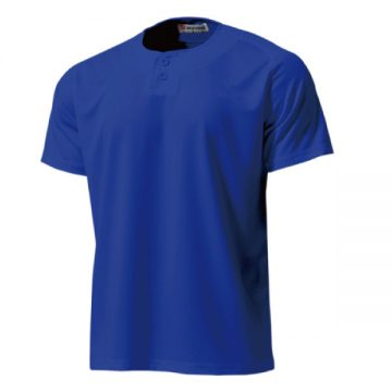 セミオープンベースボールシャツ05.ロイヤルブルー