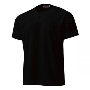 セミオープンベースボールシャツ34.ブラック