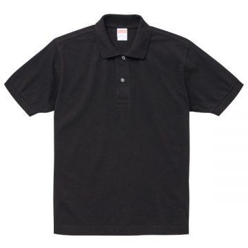 6.0オンスヘビーウェイトコットンポロシャツ002.ブラック